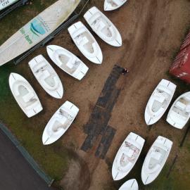 Chantier d'hiver, hivernage bateaux électriques