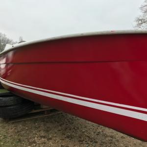 Après : Rendu bateau électrique après peinture